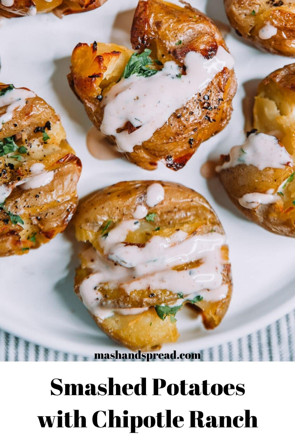 Smashed Potatoes with Chipotle Ranch by Mash and Spread.